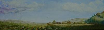 Pastoral Vineyards Painting - Laura's Vineyard by Mark Golomb