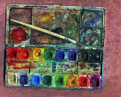 Painter Mixed Media - Laura's Water Colors by Bob RL Evans