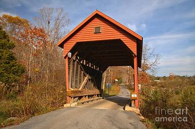Photograph - Laurel Creek Covered Bridge - West Virginia by Adam Jewell