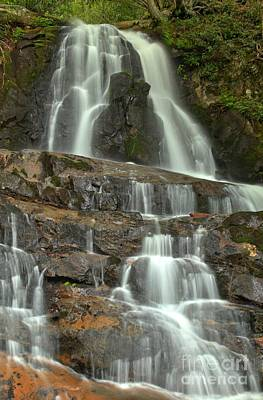 Photograph - Laurel Falls Cascades by Adam Jewell