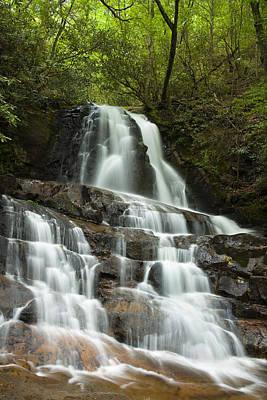 Laurel Falls Cascades Print by Andrew Soundarajan