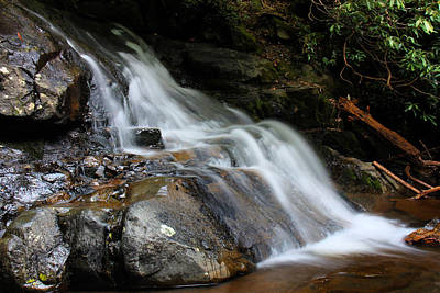 Laurel Falls Great Smoky Mountains Art Print by Jerome Lynch
