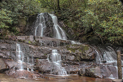 Art Print featuring the photograph Laurel Falls - Great Smoky Mountains National Park by Peter Ciro