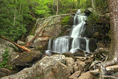 Photograph - Laurel Falls In The Great Smoky Mountains by Adam Jewell