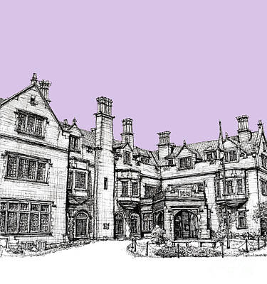 Anniversary Present Drawing - Laurel Hall In Lilac by Adendorff Design