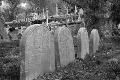 Photograph - Laurel Hill Headstones by Jennifer Ancker