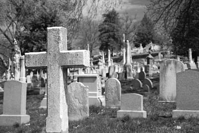 Headstones Photograph - Laurel Hill by Jennifer Ancker