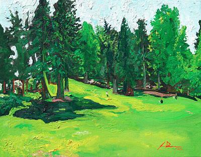 Laurelhurst Park Art Print by Joseph Demaree