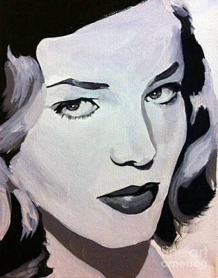 Lauren Bacall Painting - Lauren Bacall by Angela Schwengler