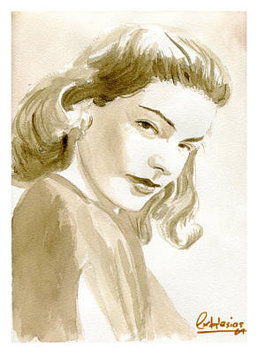 Lauren Bacall Painting - Lauren Bacall by David Iglesias