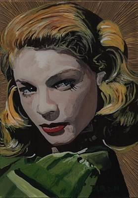 Lauren Bacall Painting - Lauren Bacall by David Moriarty