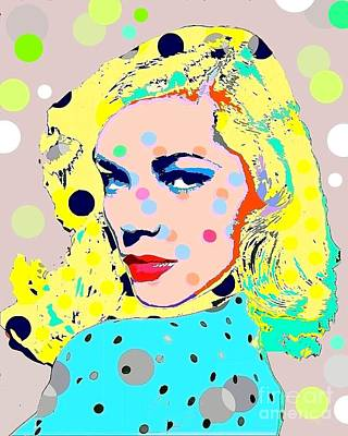 Digital Art - Lauren Bacall by Ricky Sencion