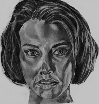 Drawing - Lauren Cohan by Timothy Fleming