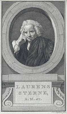 Laurence Sterne Print by British Library