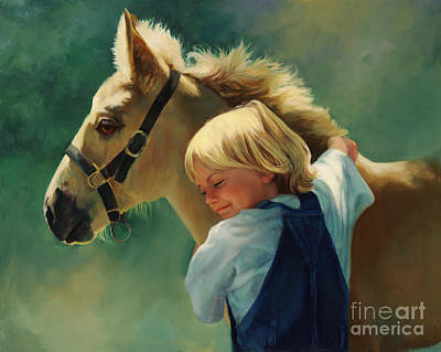 Palomino Foal Painting - Lauren's Pony by Laurie Hein