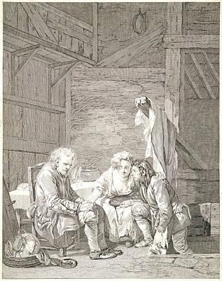 Laurent Cars French, 1699-1771 After Jean-baptiste Greuze Art Print