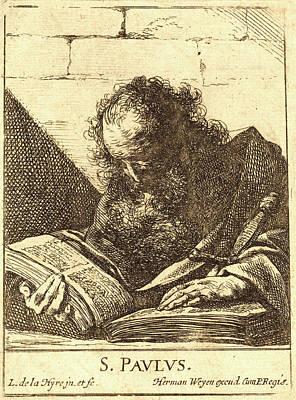 Laurent De La Hyre, French 1606-1656, Saint Paul Art Print by Litz Collection