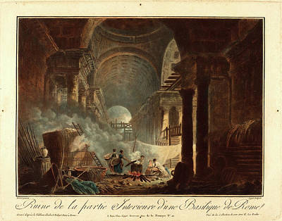 Laurent Drawing - Laurent Guyot After Hubert Robert, French 1756-1806 Or 1808 by Litz Collection
