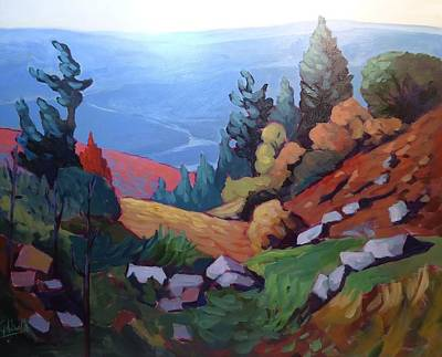 Wall Art - Painting - Laurentian Mountains by Edward Abela