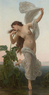 Psyche Painting - L'aurore by William Adolphe Bouguereau