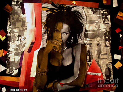 Lauryn Hill Mixed Media - Lauryn Hill True Refugee  by Isis Kenney