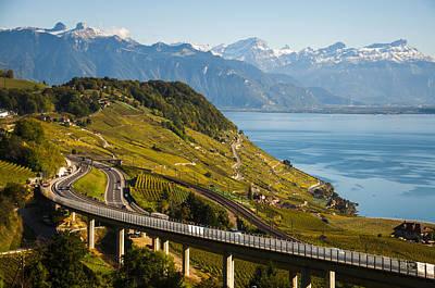 Lausanne To Montreux Art Print