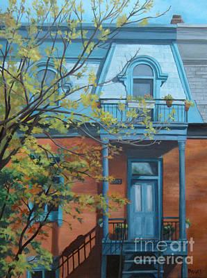 Montreal Cityscapes Painting - L'automne Au Plateau by Rita-Anne Piquet