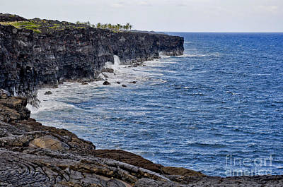 Lava Cliffs Art Print by Gina Savage