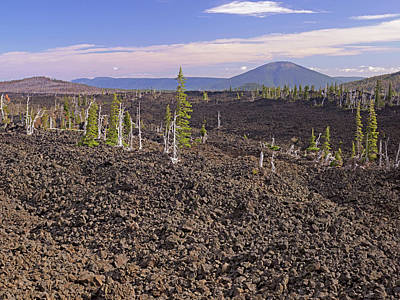 Mckenzie Pass Photograph - Lava Field At Windy Point, Mckenzie by John Orcutt
