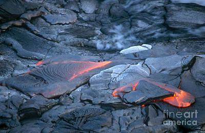Lava Flow, Kilauea, Hawaii Print by Mark Newman