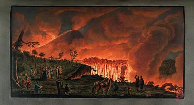 Lava Flow On Mt. Vesuvius Art Print
