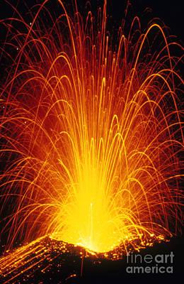 Photograph - Lava Fountain by Krafft