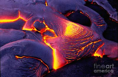 Photograph - Lava From Kilauea Volcano-hawaii by Douglas Peebles