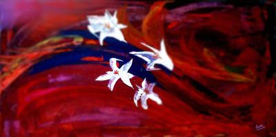 Lilium Painting - Lavanda 2 by Marcello Cicchini