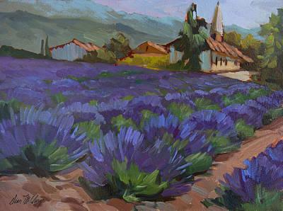 Lavender Field Painting - Lavandin En Fleur by Diane McClary