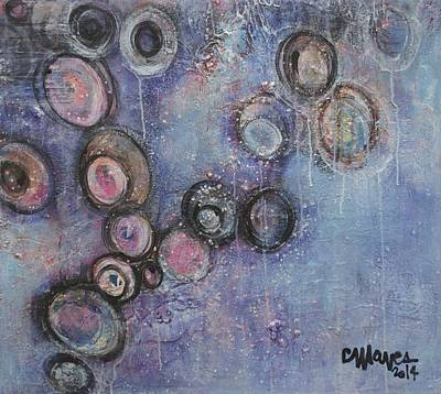 Painting - Lavender Circles Rejoice by Laurie Maves ART