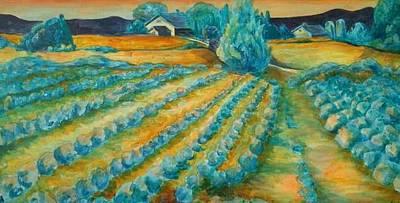 Lavendar Fields Art Print by Bianca Romani