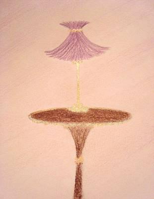 Lavendar Lamp Print by Christine Corretti