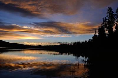 Photograph - Lavendar Sunrise Over Medicine Lake by Rich Rauenzahn