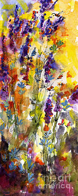 Painting - Lavender And Bees by Ginette Callaway