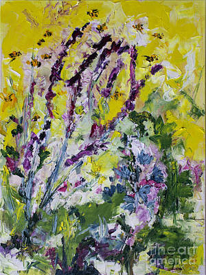 Painting - Lavender And Bees Oil Study by Ginette Callaway