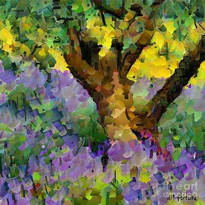 Olive Tree Mixed Media - Lavender And Olive Tree by Dragica  Micki Fortuna