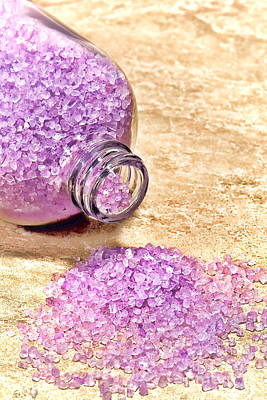 Photograph - Lavender Bath Salts by Olivier Le Queinec