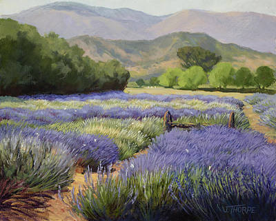 Desert Path Painting - Lavender Blue by Jane Thorpe