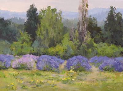Painting - Lavender Clouds by Karen Ilari