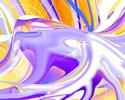 Digital Art - Lavender Dream by rd Erickson