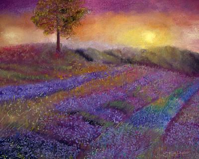 Painting - Lavender Dreamscape by Loretta Luglio