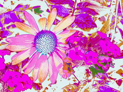 Art Print featuring the photograph Lavender Echinacea by Annie Zeno