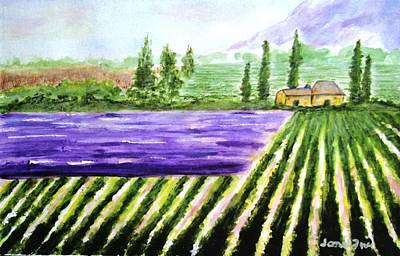 Painting - Lavender Field by Jamie Frier