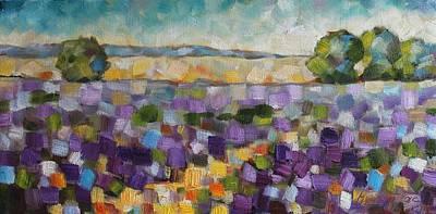 Painting - Lavender Field by Mirjana Gotovac